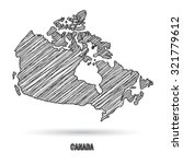 canada map hand draw | Shutterstock .eps vector #321779612