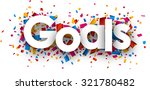 goals with colour confetti.... | Shutterstock .eps vector #321780482