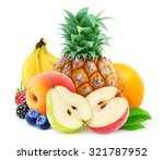Pile Of Various Fresh Fruits...
