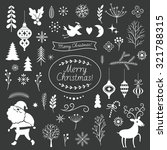 set of christmas graphic... | Shutterstock .eps vector #321788315