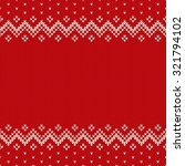 traditional fair isle style... | Shutterstock .eps vector #321794102