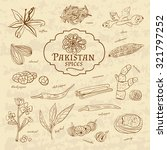 set of spices and herbs... | Shutterstock . vector #321797252