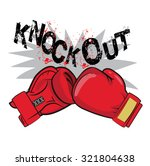 "boxing gloves and text ""knock... 