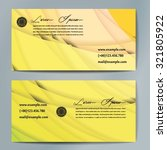 stylish business cards with... | Shutterstock .eps vector #321805922