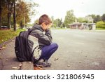 sad and unhappy child in the... | Shutterstock . vector #321806945