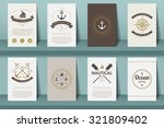 set of  nautical brochures in... | Shutterstock .eps vector #321809402