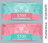 gift voucher certificate coupon ... | Shutterstock .eps vector #321810695