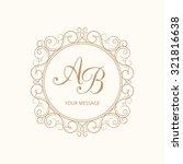 elegant monogram design... | Shutterstock . vector #321816638