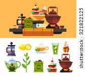 tea ceremony and all the... | Shutterstock .eps vector #321822125