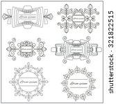 set isolated ornamental logos... | Shutterstock .eps vector #321822515