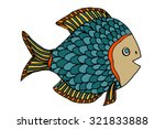 zentangle stylized fish. hand... | Shutterstock . vector #321833888