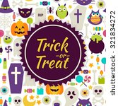 flat vector trick or treat...   Shutterstock .eps vector #321834272