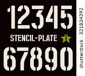 stencil plate numbers in... | Shutterstock .eps vector #321834392