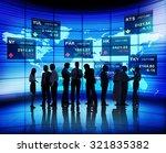 business people stock exchange... | Shutterstock . vector #321835382