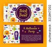 trick or treat halloween party... | Shutterstock .eps vector #321847202