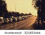 Blurred Photo Of Traffic Jam A...