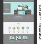 modern flat website template...