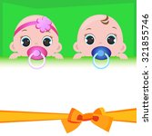 babies with place for your text   Shutterstock .eps vector #321855746