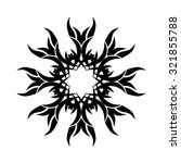 tattoo tribal vector design... | Shutterstock .eps vector #321855788