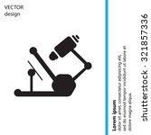 microscope icon | Shutterstock .eps vector #321857336
