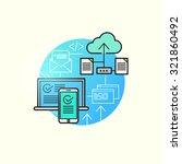 cloud computing vector. | Shutterstock .eps vector #321860492