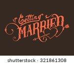 getting married | Shutterstock .eps vector #321861308