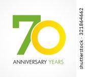 70 years old celebrating... | Shutterstock .eps vector #321864662