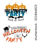 halloween party invitation with ... | Shutterstock . vector #321866825