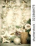 christmas decoration on... | Shutterstock . vector #321868475