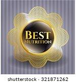 best nutrition gold shiny emblem | Shutterstock .eps vector #321871262