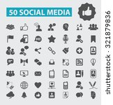 social media icons | Shutterstock .eps vector #321879836