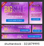 big  half price and one day... | Shutterstock .eps vector #321879995