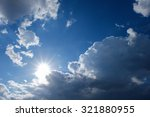 clear weather sky  sun on blue... | Shutterstock . vector #321880955