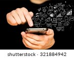 mobile apps. | Shutterstock . vector #321884942
