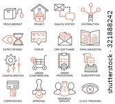 vector set of 16 icons related... | Shutterstock .eps vector #321888242