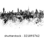 Kuwait City Skyline In Black...