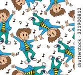 boy dancing seamless pattern | Shutterstock .eps vector #321900812