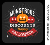 retro happy halloween badge ... | Shutterstock .eps vector #321902702