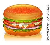 chicken burger icon ...   Shutterstock .eps vector #321906632