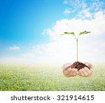 protecting the forest plant a... | Shutterstock . vector #321914615