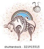 taurus. zodiac sign   Shutterstock .eps vector #321915515