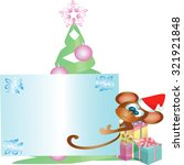 monkey happy new year vector | Shutterstock .eps vector #321921848