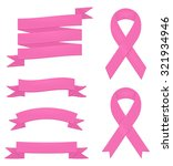 detailed pink ribbons  badges... | Shutterstock .eps vector #321934946