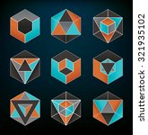abstract geometric elements set ... | Shutterstock .eps vector #321935102