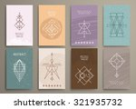 set of  trendy cards with... | Shutterstock .eps vector #321935732