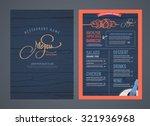 retro restaurant menu design... | Shutterstock .eps vector #321936968