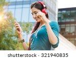 closeup shot of young woman...   Shutterstock . vector #321940835