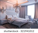 3d render of a bedroom without... | Shutterstock . vector #321941012