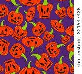 seamless halloween pattern ... | Shutterstock .eps vector #321947438