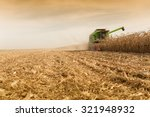 Harvesting Corn Field